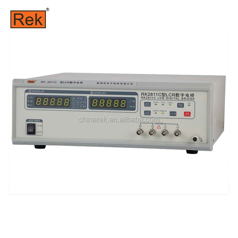 REK Electric bridge RK2811C (100Hz, 1 kHz, <strong>10</strong> kHz) LCR Digital resistance tester capacitor tester
