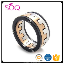 Simple unique fashion great wall men 316L stainless steel jewelry new design finger ring