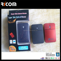 high quality mini flat mouse,slim wired mouse,optical flat mouse with laser logo--MS7045--Shenzhen Ricom