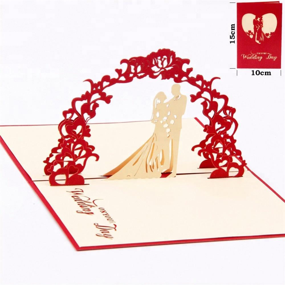 Sweety Love Wedding Invitation 3d Laser Cut Paper Greeting Pop Up ...