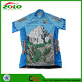 Unique Sublimated Printing Half Sleeve Cycling Jersey