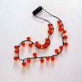 Led Light Up Pumpkin Halloween Necklace