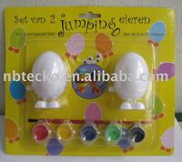 wind up egg / Jumping egg with color paint /egg paint set