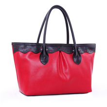 PU Leather women handbag purse, trend weekend over night Shopper clutch tote satchel bag