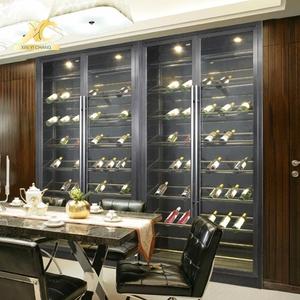 Stainless Steel European White Wine Cabinet Inox Modern Bar Furniture Refrigerated Liquor