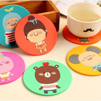 Alibaba supplier 2016 best selling kitchen table mat,Cartoon rubber table top mat,Good quality cheap silicone cup mat