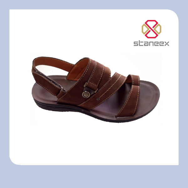 Hot Selling Latest Fashion Thailand Men Summer Leather Sandal 2014