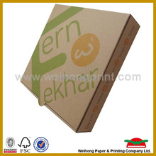 Manufacturer customized brown kraft paper pizza box