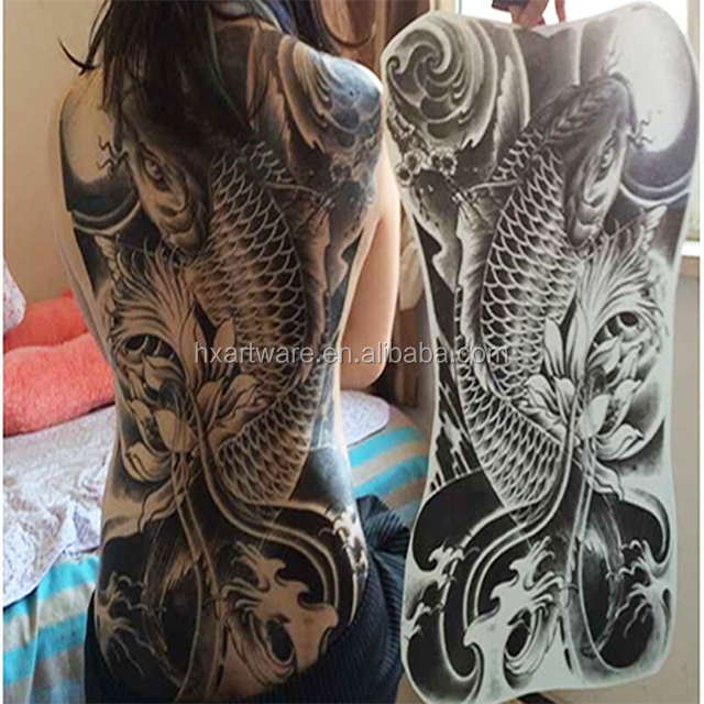 Temporary water transfer offset print tattoo for full back tattoo sticker