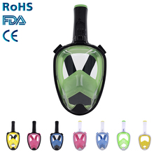 Easy to breathe Snorkel Mask Full Face, Panoramic Diving Mask 180 Degree View With Gopro Mount