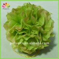 "5"" hanging green hydrangea flower kissing ball"
