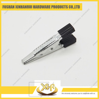Alligator clip with clamping end crocodile clip