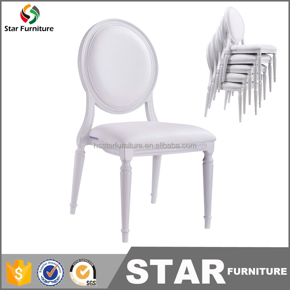 Fancy hotel furniture wedding furniture stackable chairs ghost chair louis chair