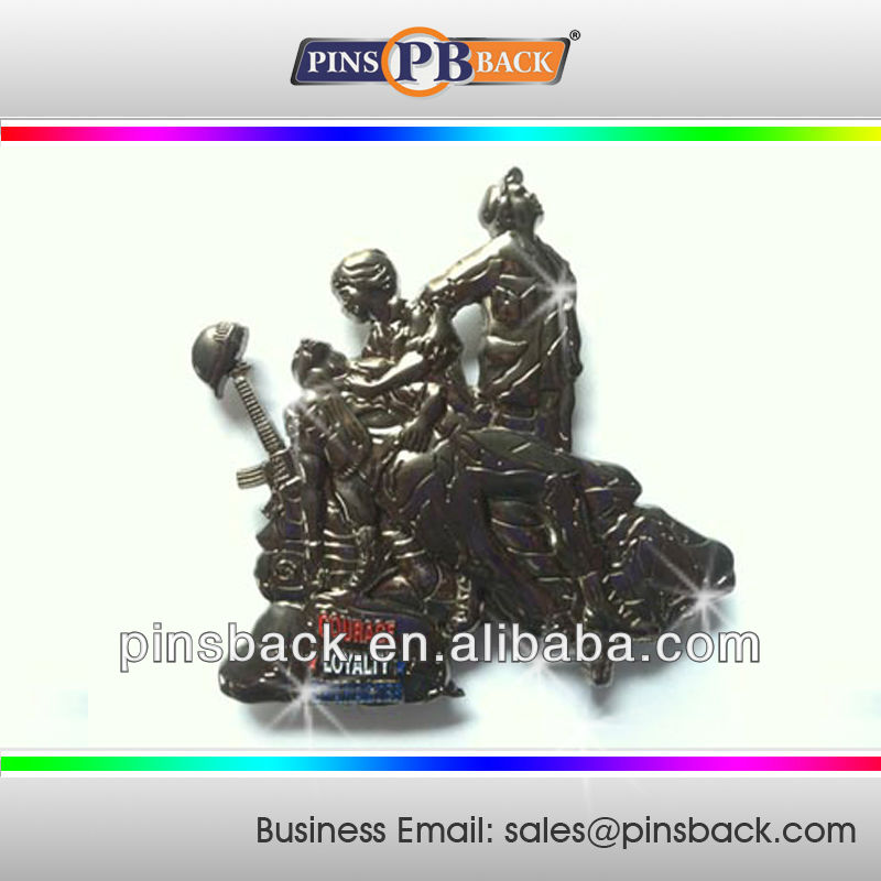 High Quality 3D Figure Metal Die Casting Lapel Pins -custom shape lapel pins for promotion gifts
