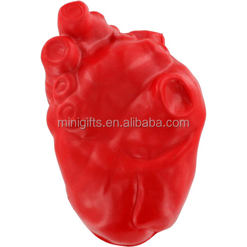 new design red color kidney shape stress ball