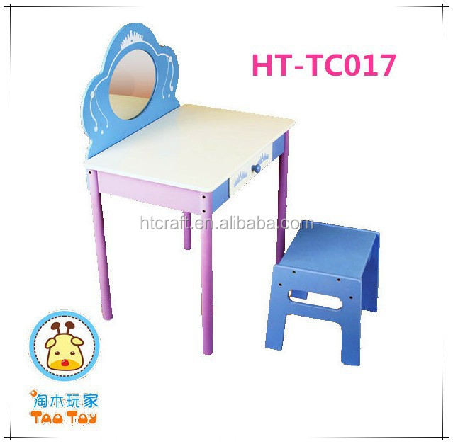 Schattige roze prinses ontwerp kinderen meubelen voor binnen mdf houten kinderen kaptafel met - Kaptafels ontwerp ...