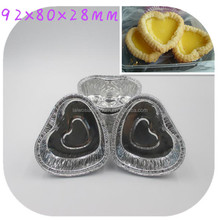 Disposable aluminum foil cup for egg tart pie container cake baking