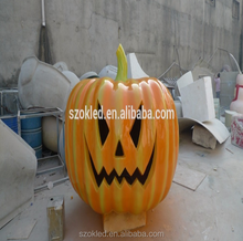 Unique and Creative Design Halloween Pumpkin Fiberglass - Bright Orange and Yellow Green