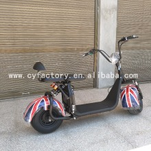 2017 Factory selling the lowest price for electric scooter citycoco fashion off road motorcycle with double seat