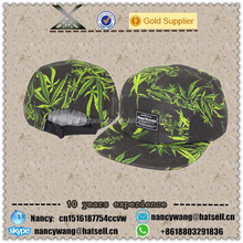 custom fashion 5 panels hat selling flat brim colorful printing dyed cap