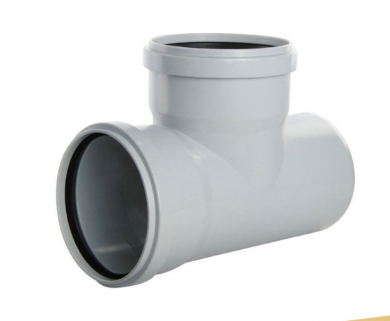 grey color mile color UPVC CPVC pipe fittings PVC tee with rubber joint