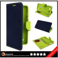Keno Hot Selling Wallet With Card Holder PU Hybrid Leather and TPU Flip Stand Mercury Case for Asus Zenfone 5