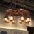 Maso MS-P3007 antique iron glass vintage pendant lamp rudder wooden chandelier pendant lamps for Restaurant/bar/cafe decor