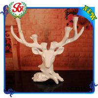 2015 Newest Fashion Design Hot Selling Products SGD152 tealight candle holder,white deer table decoration candle holders