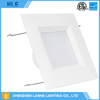 energy saving indoor lighting square 10w 12w 16.5w smd led dimmable downlight
