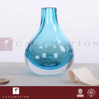Casamotion Decorative Blue Coloured Art Deco Glass Mini Bud Vase