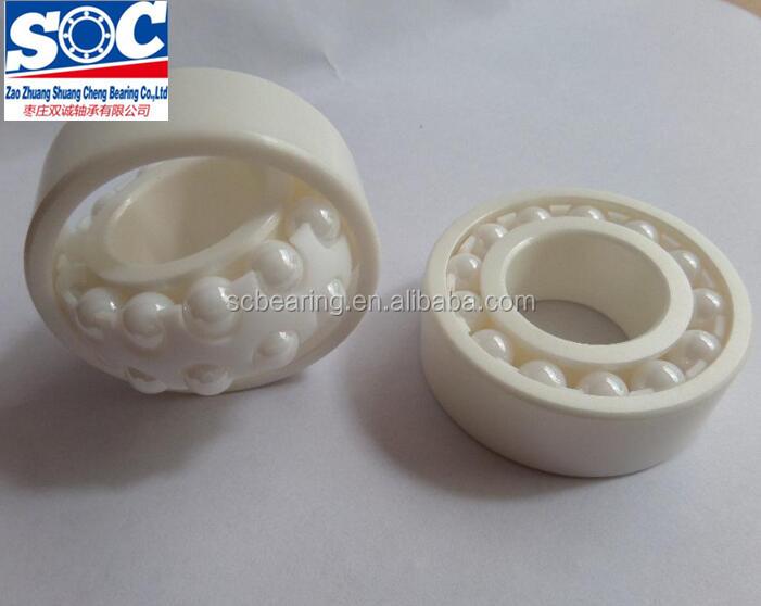 ZrO2 empuxo do rolamento de esferas de cerâmica de Zircônia completa 51108 51100 51101 51102 51103 51104