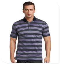 Make in China high quality original custom striped polo shirt for men