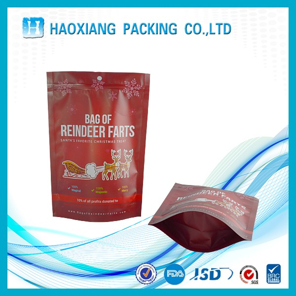 Customized own logo resealable metalized stand up pouch