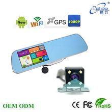 FHD 1080P Android mirror GPS dvr camera with WiFi connection GPS navigation