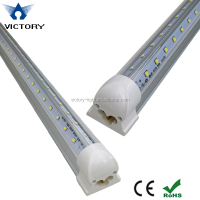 "v-shaped 44w led t8 tube with integrated base, 96"" 8ft fluorescent tube light replacement"