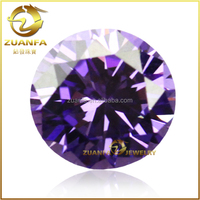 China wholesale 3mm round brilliant cut amethyst synthetic gems