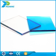 PC transparent 8mm polycarbonate solid mirror roof sheet