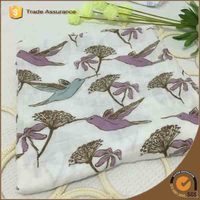 The swallow mouth of branches design soft touch breathable swaddle muslin baby blanket