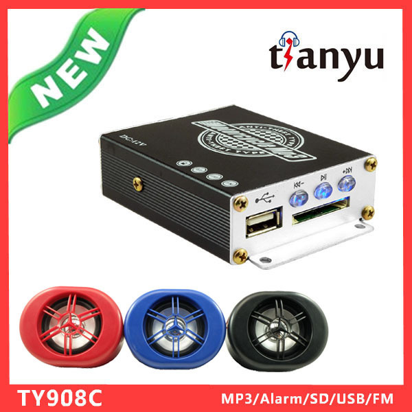 12V Motorcycle Audio Amplifier Car Music System 2.5m Wire Control With LED