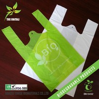 100% biodegradable material raw corn starch plastic vest bag