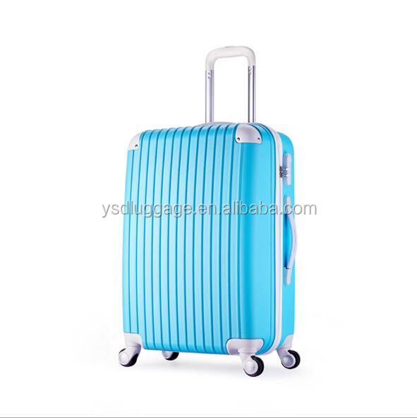 2016 photochromic coating luggage suitcase plastic suitcase with dots printing trolley luggage