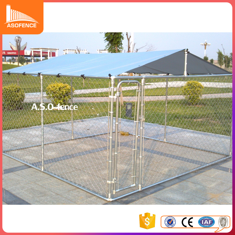 Custom logo high quality large outdoor welded wire dog run kennel