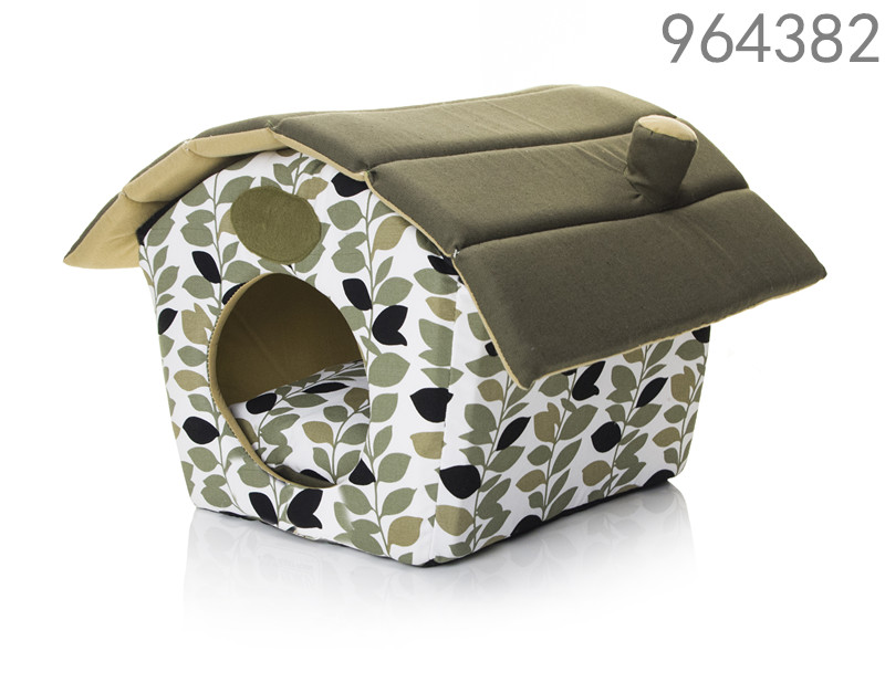 canvas fabric wholesale different size igloo design pet dog house with removable cushion