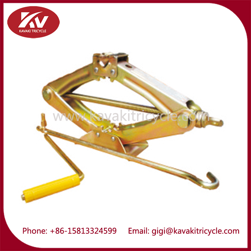Guangzhou factory supply 3 wheel cargo motorcycle tricycle repair tool scissor mini lift jack