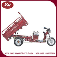 2015 enviromental friendly good looking top good brand kavaki three wheel electric motorcycle for cargo transportation hot sale