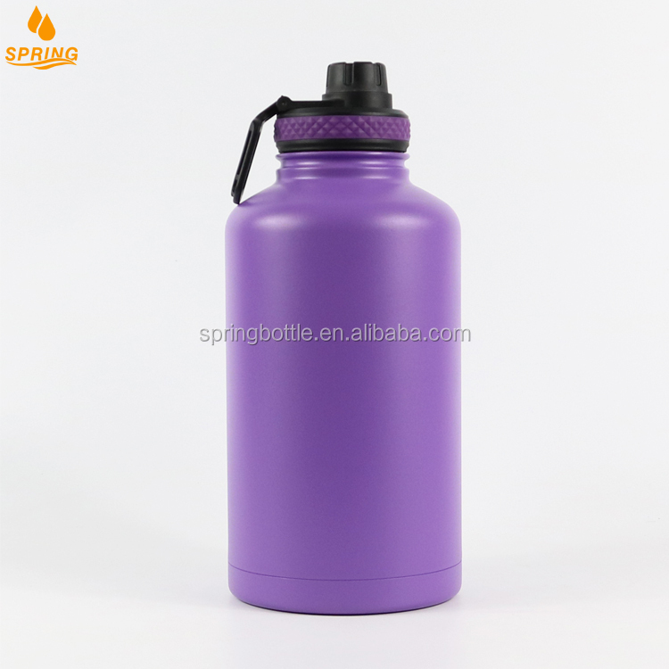 64oz Hydro Flask Double Wall Vacuum Insulated Stainless Steel Sports Water Bottle Wide Mouth with BPA Free lid F-03-10