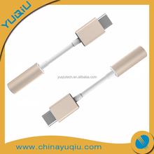 USB 3.1 Type C male to 3.5mm aux female audio adapter cable
