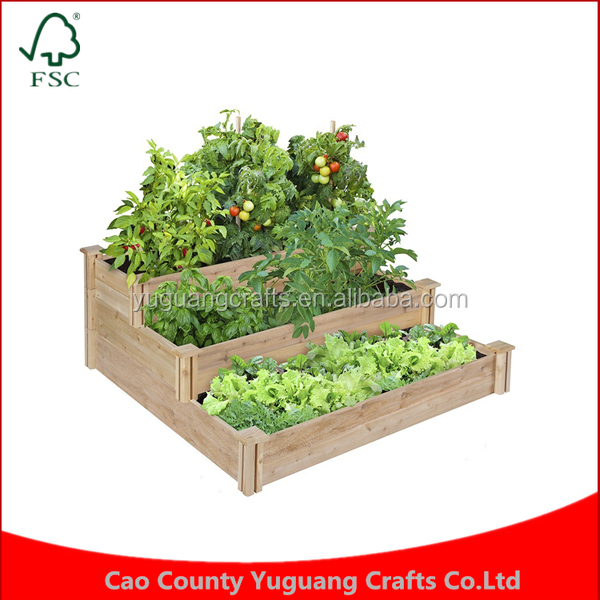 Best Choice Products Vegetable Patio Backyard Grow Flowers elevated Planter Raised Tiered Cedar Garden Bed