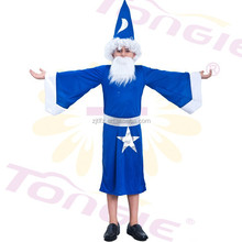 Made in china kid carnival costume boy magician cosplay costumes with hat
