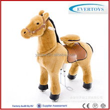 Children mechanical walking animal Plush riding horse toy